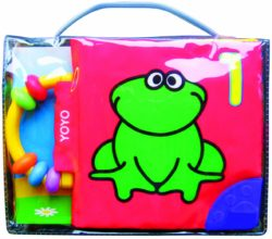 Soft Book with Rattle and Teether - Frog