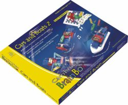Cambridge Brainbox Cars & Boats Electronics and Science Construction Kit (STEM Snap Circuits - 50 Ex