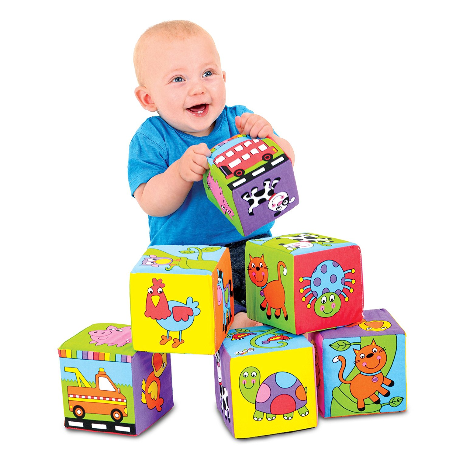 Galt Toys Baby Soft Stacking Blocks (Foam Filled Fabric