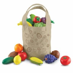 Learning Resources New Sprouts Fresh Picked Fruit & Veggie Tote (Play Food)