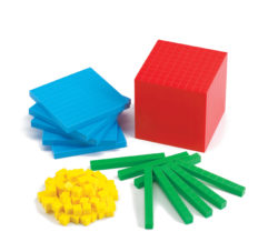 Edx Education Base Ten Blocks (4 Colours - 121 Pieces)