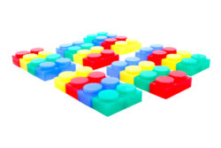 TickiT SiliShapes® Soft Silicone Bricks (24 Construction Blocks)