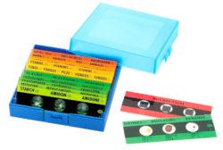 EDU-QI Microscope Prepared Slide Set with Box (12 micro slides / 36 Specimen)