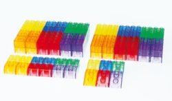 TickiT Translucent Module Blocks (90 Transparent Construction Bricks)