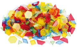 TickiT Plastic Translucent Hollow Pattern Shapes (180 Transparent Blocks)