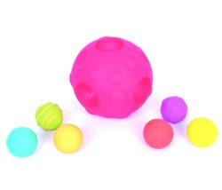 TickiT Tactile Sensory Meteor Ball with 6 Small Textured Balls