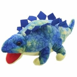 The Puppet Company - Blue Stegosaurus Baby Dino (Soft Toy   Dinosaur Puppet)
