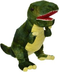 The Puppet Company Green T-Rex Baby Dino (Soft Toy + Dinosaur Puppet)