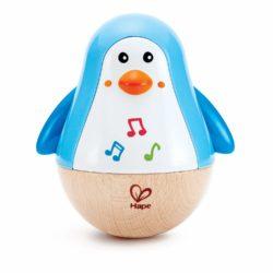 Hape Penguin Music Wobbler (Wooden Eco Toy)