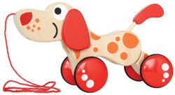Hape Pepe Pull Along Puppy (Walk-a-Long Dog Toy)