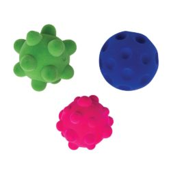Rubbabu Textured Tactile Stress Balls - Sensory Fidget Toy (Pack of 3)