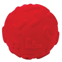 Rubbabu Letter Textured & Tactile Uppercase Alphabet Sensory Ball (Red)