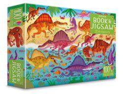 Usborne Dinosaurs Puzzle Book + 100-Piece Jigsaw
