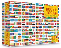 Usborne Colouring Book and Jigsaw - Flags of the World (Colouring Book + 300-Piece Puzzle)