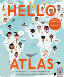 The Hello Atlas + Free App to Hear More Than 100 Different Languages (Wide Eyed Editions - Hardcover)
