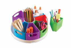 Learning Resources Stationery Create-a-Space Storage Centre (Storage Tray + 9 Containers)