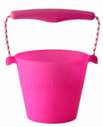 Scrunch Foldable Soft Bucket (Pink - Sand, Water and Beach Toy)
