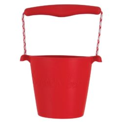 Scrunch Foldable Soft Bucket (Red - Sand, Water and Beach Toy)