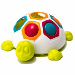 Pop & Slide Shelly - Toddler Sensory Tactile Turtle Toy (Fat Brain Toys)