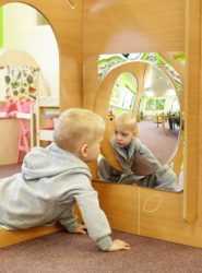 Tickit Large Single Dome Acrylic Sensory Mirror Panel - 490mm