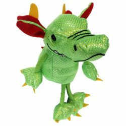 The Puppet Company Dragon - Green (Finger Puppet/Soft Toy)