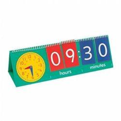 Edx Education Tell the Time Flip Chart - Large Analogue & Digital Clock (Teacher Demonstration)