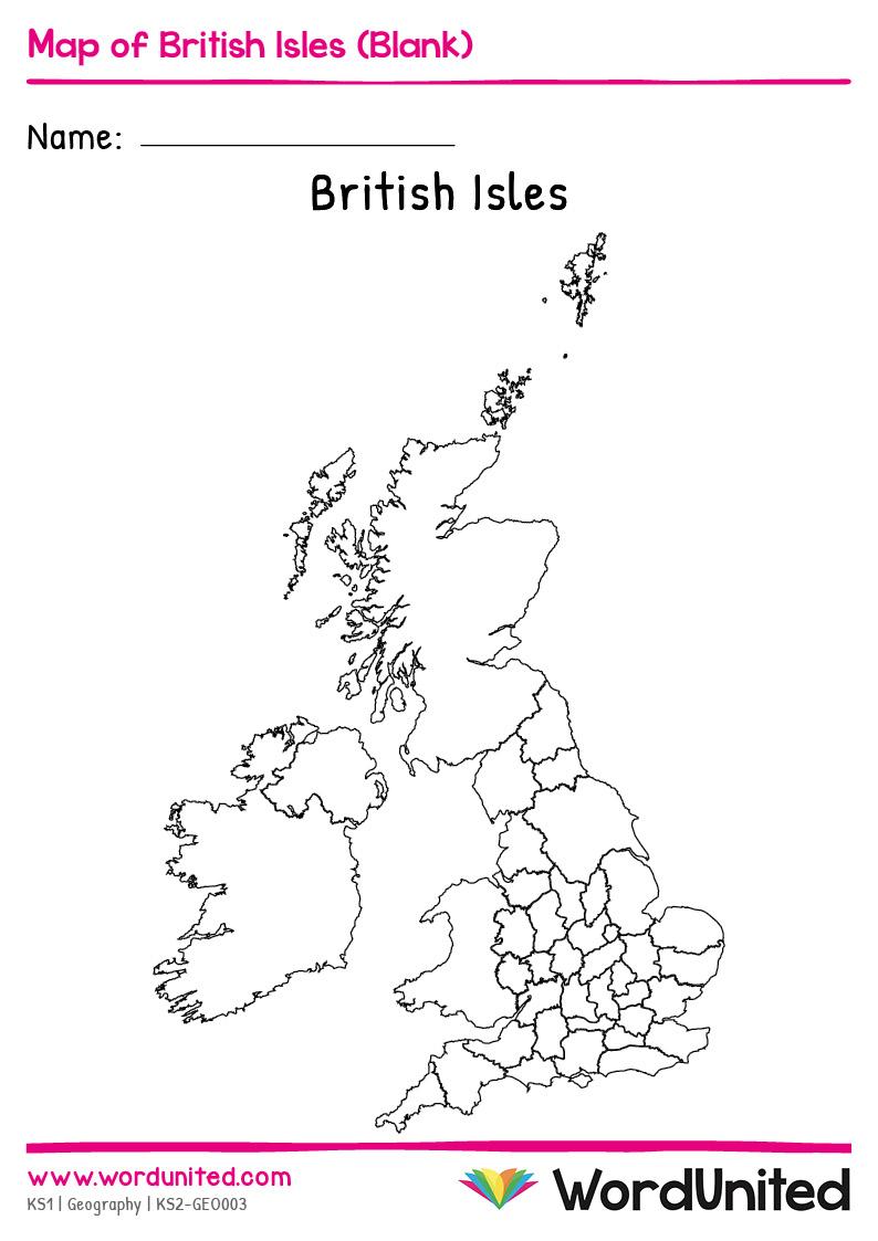Blank Map of British Isles - WordUnited