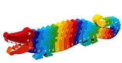 Lanka Kade Fair Trade ABC Conga the Crocodile a-z Puzzle (Alphabet Wooden Jigsaw)