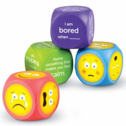 Learning Resources Soft Foam Emoji Cubes (Dice)