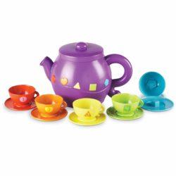 Learning Resources Serving Shapes Tea Set (Tea Pot, 5 Cups & 5 Saucers)
