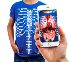 Curiscope Human Body Virtuali-Tee   Educational Augmented Reality (Size M: 7-8 Years)