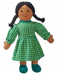 Lanka Kade Mum Doll - Brown Skin, Black Hair