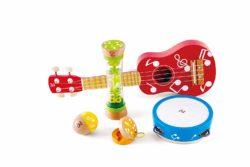 Hape Mini Band Set - 5 Music Making Toys (Musical Sound Eco Toy)